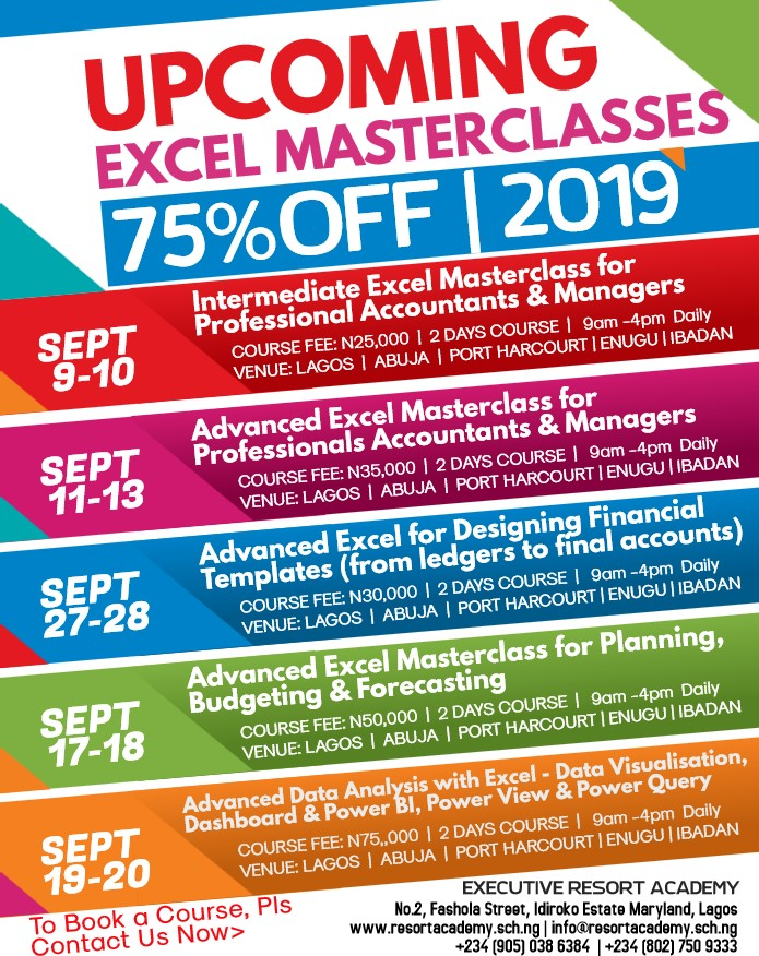 Upcoming Excel Masterclasses (Intermediate & Advanced) - 75
